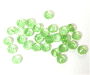 18pc crystal donut Peridot Green 4mm