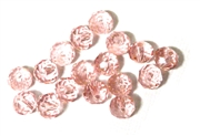 6pc crystal donut Rosaline Pink 8mm