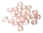 12pc crystal donut Rosaline Pink 6mm