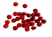 18pc crystal donut Siam Red 4mm
