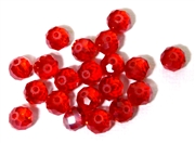 6pc crystal donut Siam Red 8mm