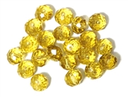 6pc crystal donut Yellow 8mm