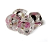 1pc indian glass Black Pink Cube 10mm