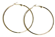 1pr earring hoops gold plated 52mm width