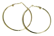 1pr earring hoops gold plated 46mm width
