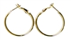 1pr earring hoops gold plated 32mm width