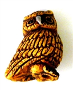 1pc porcelain owl bead 25x20mm