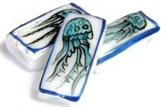 1pc porcelain rectangle jellyfish