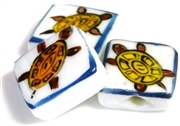 1pc porcelain turtle square