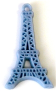 1pc resin charm lilac grey eiffel tower 45x24mm
