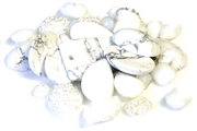 10gm cabochon mix glass white