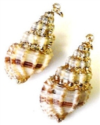 1pc shell charm dimpled gold plated