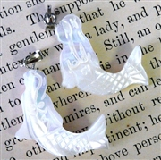 1pc mermaid shell pendant/charm white 21x25mm