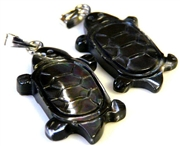 1pc turtle shell pendant/charm steel 25x15mm