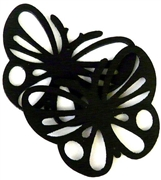 1pc wooden butterfly pendant jet black