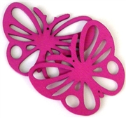 1pc wooden butterfly pendant fuchsia pink