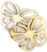 1pc wooden butterfly pendant natural