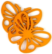 1pc wooden butterfly pendant orange