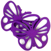 1pc wooden butterfly pendant purple