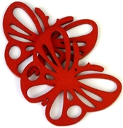 1pc wooden butterfly pendant red