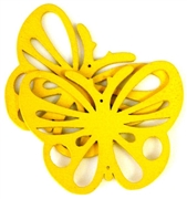 1pc wooden butterfly pendant yellow