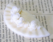 1pc Resin Oriental Fan Charm Ivory