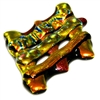 1pc dichroic waffle pendant brown #24