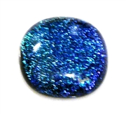 1pc dichroic cabochon blue #30