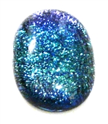 1pc dichroic cabochon blue #32
