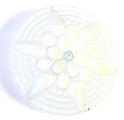 1pc czech glass button 36mm clear frosted star