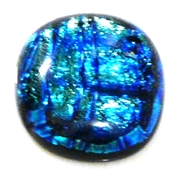 1pc dichroic cabochon blue #35