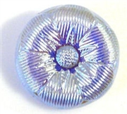 1pc czech glass button 18mm light sapphire flower ab