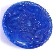 1pc czech glass button 26mm dark sapphire swirl