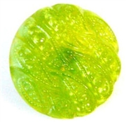 1pc czech glass button 18mm green weave