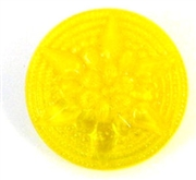 1pc czech glass button 18m yellow star