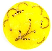 1pc czech glass button 26mm yellow flower