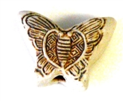 1pc porcelain bead butterfly brown 15x20mm
