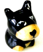 1pc porcelain black dog bead 20mm