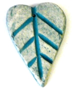 1pc porcelain seafoam lines heart 20x30mm