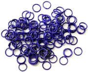 30pc 6mm coloured jump rings purple mix