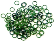 30pc 6mm coloured jump rings dark green mix