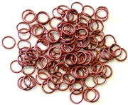 30pc 6mm coloured jump rings pink mix