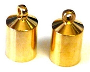 4pc cone ends gold plated w/loop