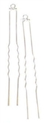 2pc silver plated hairsticks w 1 loop