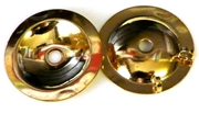 2pc gold plated button backing 26mm
