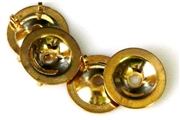 4pc gold plated button backing 10mm