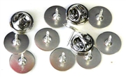 10pc silver plated cluch pins 10mm