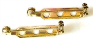 10pc gold plated brooch back 25mm