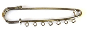 1pc silver plated kilt pin w/7 holes