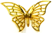 1pc large butterfly gold plated charm